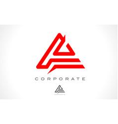 Letter a monogram logo design vector