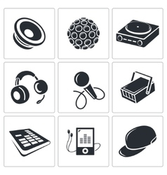 Nightclub icon collection vector