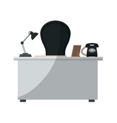 Office workplace icon vector