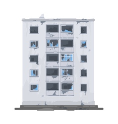 One Destroyed Building vector image