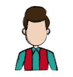 portrait man male profile character image vector image