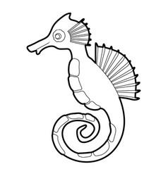 Seahorse icon outline vector