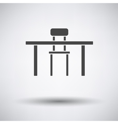Table and chair icon vector image vector image