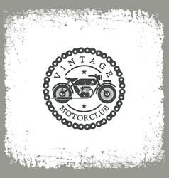vintage motorclub vector image