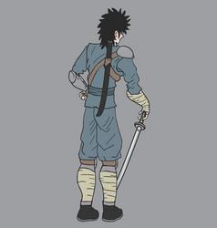 Vintage samurai vector