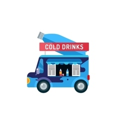 Water shop food car icon vector