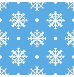Winter seamless pattern with crystallic snowflakes vector image vector image