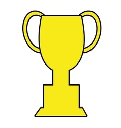yellow trophy icon front view graphic vector image vector image