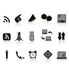 Isolated communication Icons on white background vector image