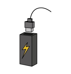 Backup energy supply icon vector