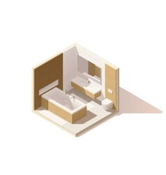isometric low poly bathroom icon vector image