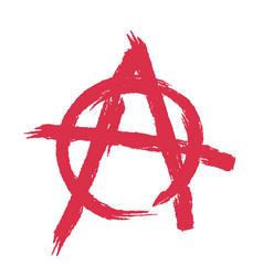 Anarchy sign isolated brush strokes grunge style vector