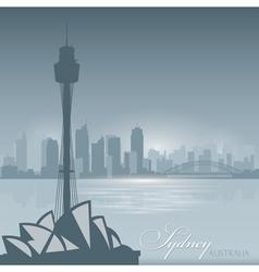 Sydney Australia skyline city silhouette Backgroun vector image