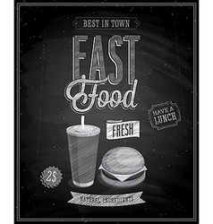 fast food chalk vector image