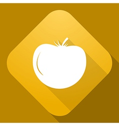 Icon of tomato with a long shadow vector