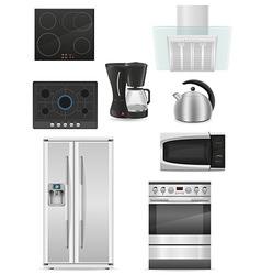 set of kitchen appliances 01 vector image