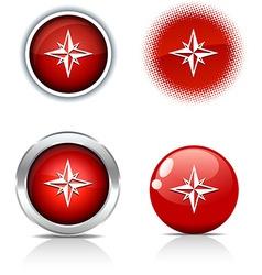 Compass buttons vector