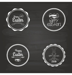 Easter label vector
