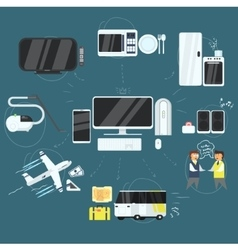 Internet Technology Devices and Opportunities vector image