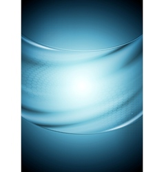 Abstract tech wavy blue background vector image vector image