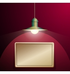 Ancient lamp hanging Big and empty bronze plate vector image