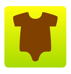 Baby sign brown icon at vector