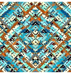 Blue aztecs pattern vector