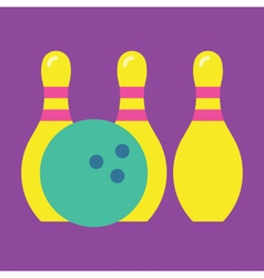 Bowling Icon Colorful Bowling vector image