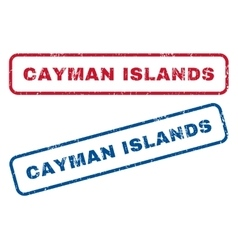 Cayman islands rubber stamps vector