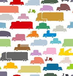 Colorful cars seamless pattern lovely texture from vector