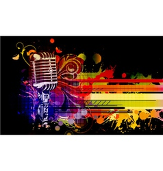 colorful concert poster vector image