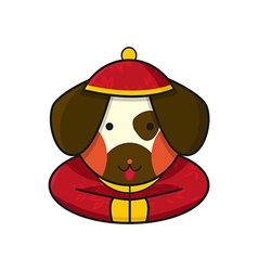 Dog chinese vector