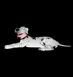 Dog great dane white laying vector