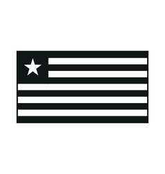 Flag of liberia monochrome on white background vector