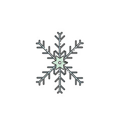 flat color snow flakes icon vector image