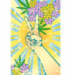 flower power vector image vector image