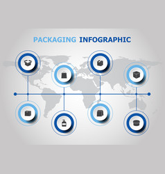 infographic design with packaging icons vector image