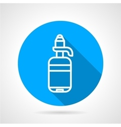 Line water bottle round icon vector image