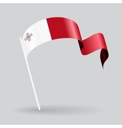Maltese wavy flag vector