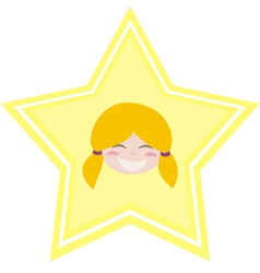 My happy shining star girl vector