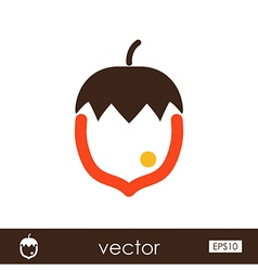 Nut outline icon Fruit vector image vector image