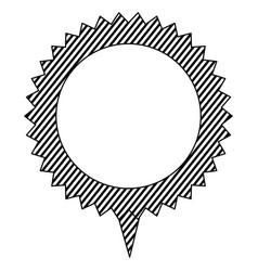 Silhouette cloud circle chat bubble vector