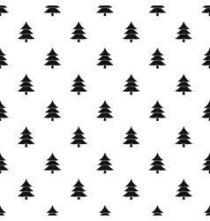 Snowy spruce pattern simple style vector image