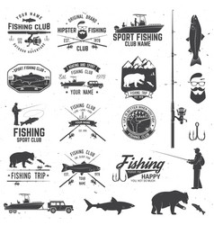 Sport fishing club vector