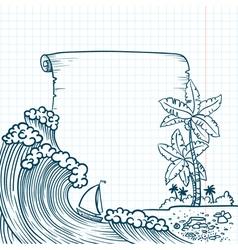Summer border vector image vector image
