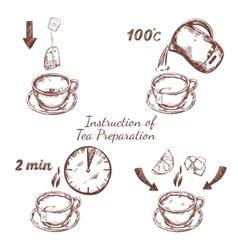 Tea Preparation Ceremony Composition vector image