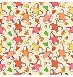 The pattern of forest foxes vector image