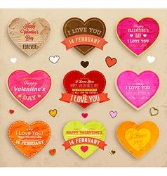 Valentines icon set vector