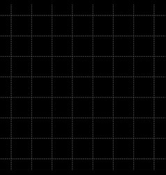 white dash square seamless on black background vector image vector image