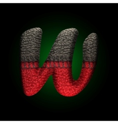 wool letter vector image
